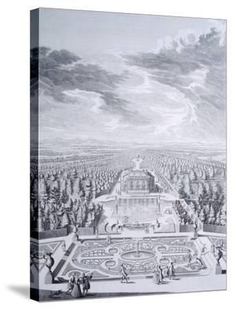 House Badenburg in Nymphenburg Gardens in Munich--Stretched Canvas Print