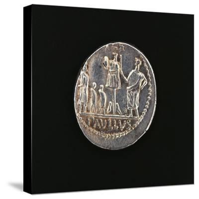 Denarius Issued in 71 BC to Commemorate Aemilius Paullus' Victory at Battle of Pydna in 168 BC--Stretched Canvas Print