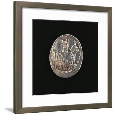 Denarius Issued in 71 BC to Commemorate Aemilius Paullus' Victory at Battle of Pydna in 168 BC--Framed Giclee Print