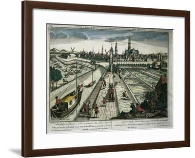 Netherlands, Haarlem, View of the Canal--Framed Giclee Print