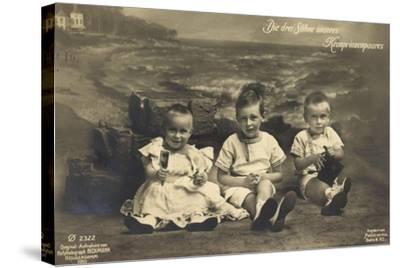 Die Drei Söhne Unseres Kronprinzenpaares, Strand, Ph--Stretched Canvas Print
