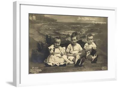 Die Drei Söhne Unseres Kronprinzenpaares, Strand, Ph--Framed Giclee Print