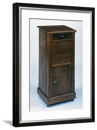 Directoire Style Walnut Bedside Table, France, Late 18th-Early 19th Century--Framed Giclee Print