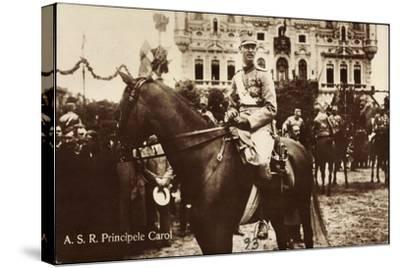 A.S.R. Principele Carol, Adel Rumänien, Pferd, Parade--Stretched Canvas Print