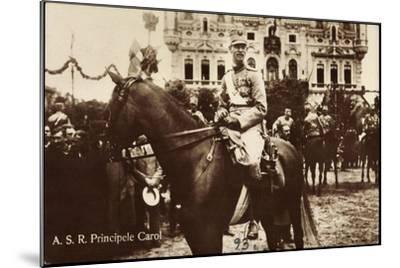 A.S.R. Principele Carol, Adel Rumänien, Pferd, Parade--Mounted Giclee Print