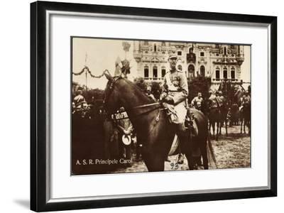 A.S.R. Principele Carol, Adel Rumänien, Pferd, Parade--Framed Giclee Print