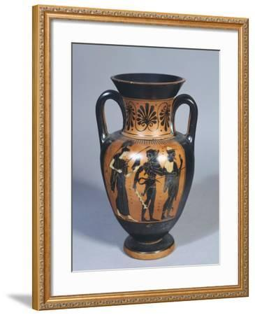 Attic Amphora Representing Hercules, Athena and Hermes--Framed Giclee Print