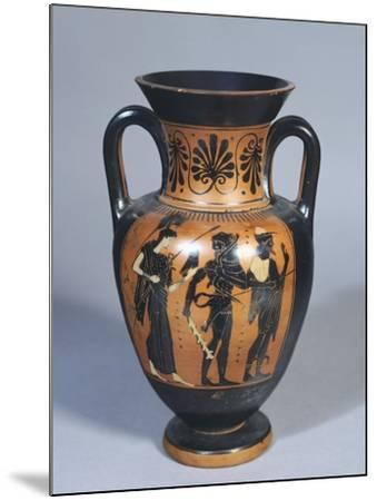 Attic Amphora Representing Hercules, Athena and Hermes--Mounted Giclee Print
