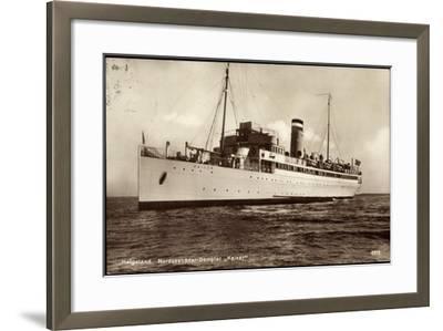 Hapag, Helgoland, Nordseebäderdampfer Kaiser--Framed Giclee Print