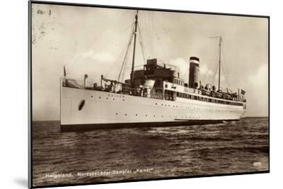 Hapag, Helgoland, Nordseebäderdampfer Kaiser--Mounted Giclee Print