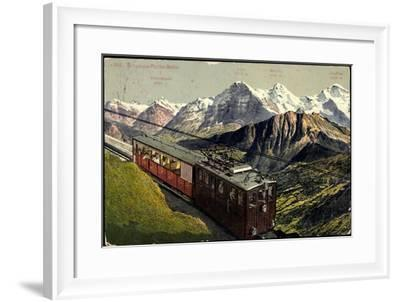 Eisenbahnen, Schweiz, Schynige Platte Bahn, Bergbahn--Framed Giclee Print
