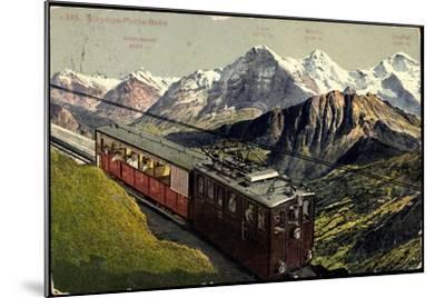Eisenbahnen, Schweiz, Schynige Platte Bahn, Bergbahn--Mounted Giclee Print