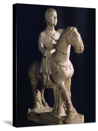 Equestrian Statue, Romanesque Art of 12th Century--Stretched Canvas Print