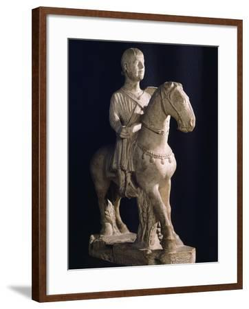 Equestrian Statue, Romanesque Art of 12th Century--Framed Giclee Print