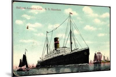 Hapag, S.S. Noordam, Dampfschiff, Segelboote--Mounted Giclee Print
