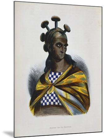 Warrior from the Sandwich Islands, Polynesia, 1843-1844--Mounted Giclee Print