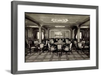 Hapag, Dampfer Hamburg, Rauchsalon, 1 Klasse--Framed Giclee Print