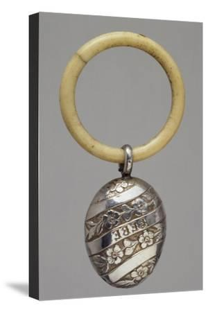 Silver Rattle, France, Late 19th Century--Stretched Canvas Print