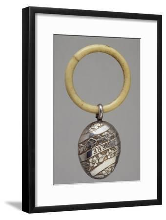 Silver Rattle, France, Late 19th Century--Framed Giclee Print