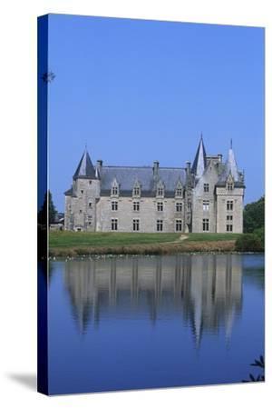 France, Brittany, Chateau De La Motte Beaumanoir--Stretched Canvas Print