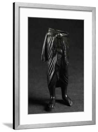 Bronze Figure with Draped Skirt--Framed Giclee Print