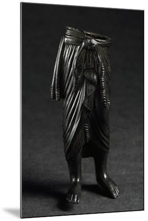 Bronze Figure with Draped Skirt--Mounted Giclee Print