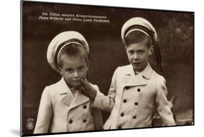 Söhne Des Kronprinzenpaares, Wilhelm, Louis, Npg 4779--Mounted Giclee Print