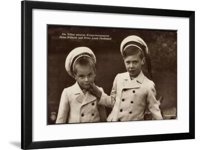 Söhne Des Kronprinzenpaares, Wilhelm, Louis, Npg 4779--Framed Giclee Print