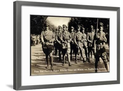 Prinz Eitel Friedrich, August Wilhelm, Stahlhelm--Framed Giclee Print