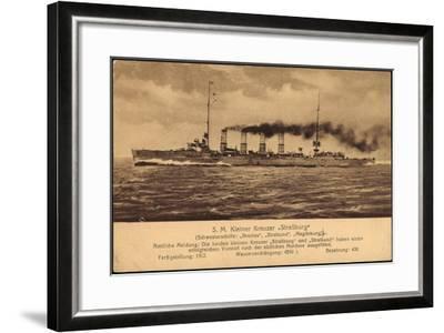 Kriegsschiff S. M. Kleiner Kreuzer Straßburg--Framed Giclee Print