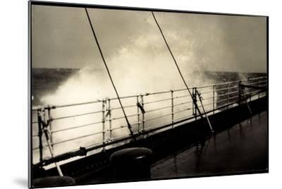 Hapag, Seestück, Dampfer Im Seegang, Wellen an Deck--Mounted Giclee Print