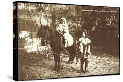 Prinzessinnen Marie Und Kyra Von Rußland Mit Pony--Stretched Canvas Print