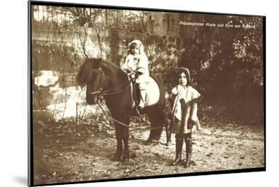 Prinzessinnen Marie Und Kyra Von Rußland Mit Pony--Mounted Giclee Print