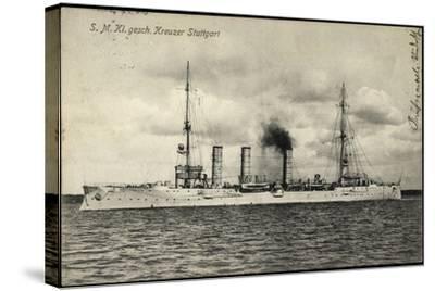 Kriegsschiffe Deutschland, S. M. Kreuzer Stuttgart--Stretched Canvas Print
