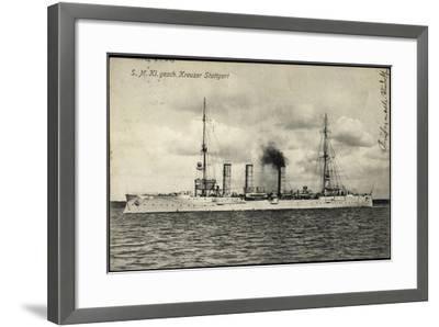 Kriegsschiffe Deutschland, S. M. Kreuzer Stuttgart--Framed Giclee Print