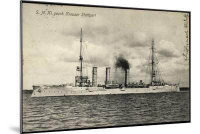 Kriegsschiffe Deutschland, S. M. Kreuzer Stuttgart--Mounted Giclee Print