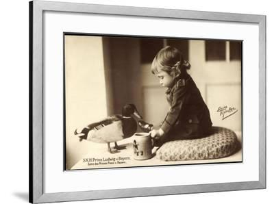 Prinz Ludwig Von Bayern, Sohn Des Prinzen Franz Von Bayern, Stockente--Framed Giclee Print
