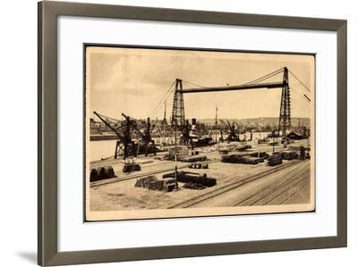 Rouen Seine Maritime, Le Pont Transbordeur--Framed Giclee Print