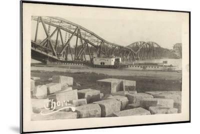 Foto Graudenz Westpreußen, Zerstörte Brücke, Dampfer--Mounted Giclee Print