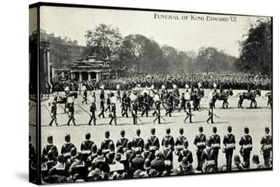 Funeral of King Edward 7, 20th May 1910, Gun Carriage--Stretched Canvas Print