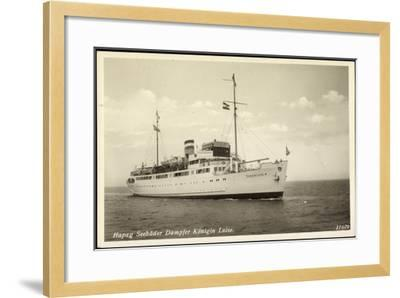 Hapag, Seebäderdienst, Dampfer Königin Luise--Framed Giclee Print