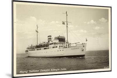 Hapag, Seebäderdienst, Dampfer Königin Luise--Mounted Giclee Print