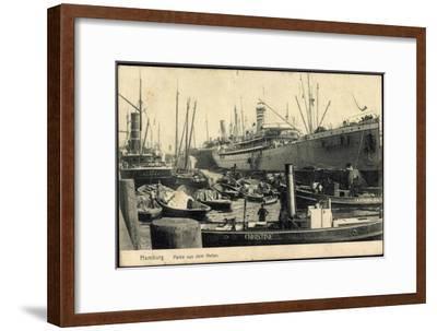 Hamburg, Hafen, Dampfer Christine and I.H. Königslieb--Framed Giclee Print