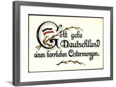 Ostergruß an Deutschland, Fahne--Framed Giclee Print