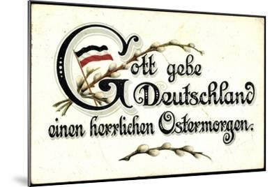 Ostergruß an Deutschland, Fahne--Mounted Giclee Print