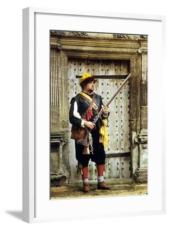 English Civil War Musketeer, Re-Enactment--Framed Giclee Print