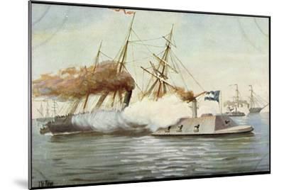 Künstler Rave, C., Futur. Kriegsschiff, Segelschiffe--Mounted Giclee Print