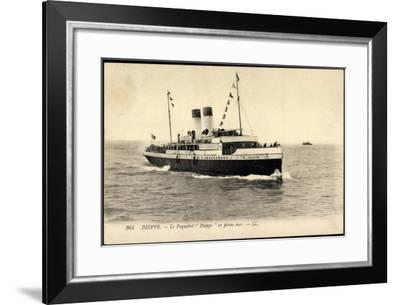 Dieppe, Le Paquebot Dieppe En Pleine Mer--Framed Giclee Print