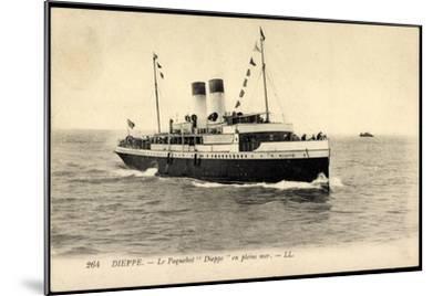 Dieppe, Le Paquebot Dieppe En Pleine Mer--Mounted Giclee Print