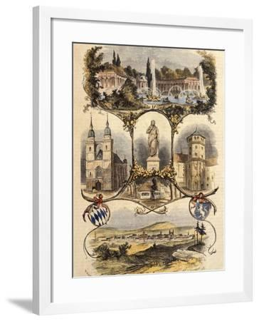 Germany, View of Bayreuth, 1860--Framed Giclee Print